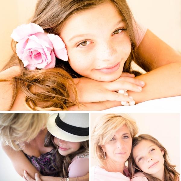 mother/daughter beauty shoot