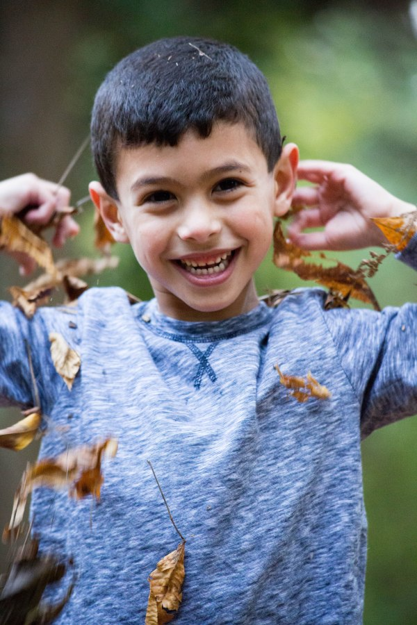 paige p. photography, boy playing leaves