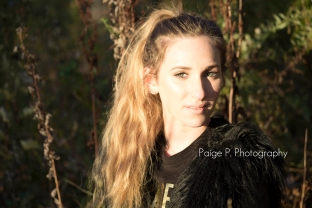 beautiful sunlit girl senior portait