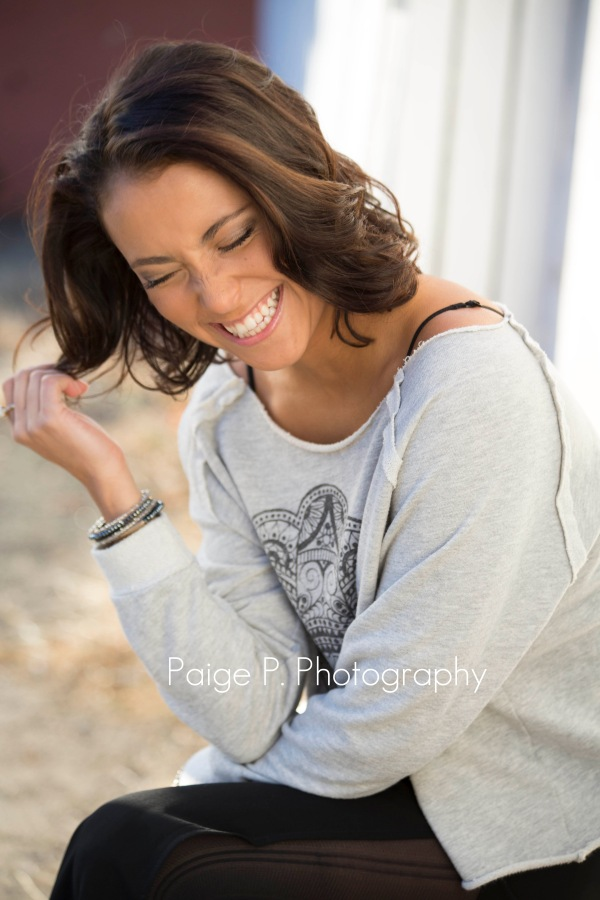 Senior portraits girl laughing
