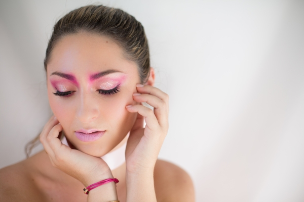 Pink makeup for Breast Cancer Awareness