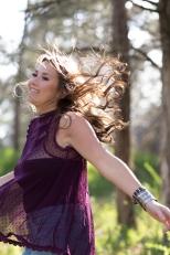 Teen girl running, portraits, senior pictures