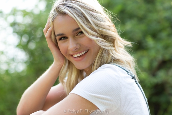 Portrait of sunlit teen girl