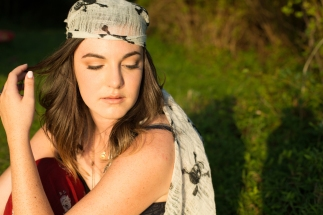 High School pictures, sunlit, boho style
