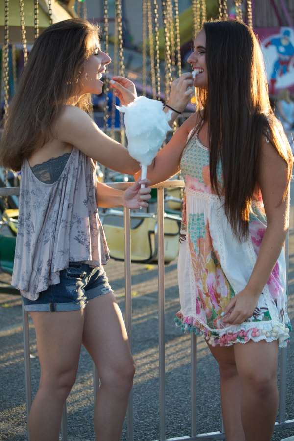 High School girls at the carnival